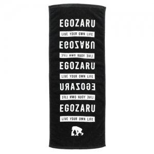 EGOZARU(エゴザル) Lyol Face Towel(ライブユアオンライフフェイスタオル) 黒