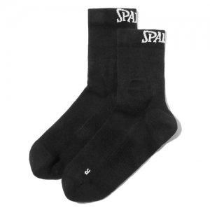 SPALDING(スポルティング) Compression Short Socks(コンプレッションショートソックス/機能ソックス/靴下) 黒