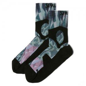 SPALDING(スポルティング) Compression Short Socks(コンプレッションショートソックス/機能ソックス/靴下) ミックスカモ
