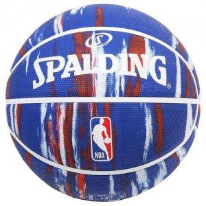 SPALDING(スポルディング) NBA LOGOMAN MARBLE RUBBER BALL(NBAロゴマーブルラバーボール/アウトドアボール) トリコロール/7号