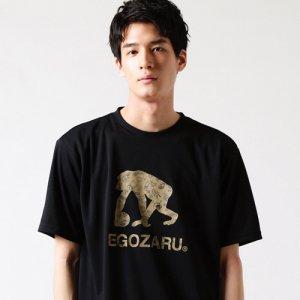 【大人気につき残り1枚!!!】EGOZARU(エゴザル) Comic Logo Tee(コミックロゴTシャツ) 黒/カーキ