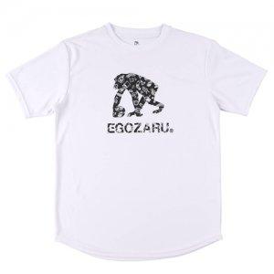 EGOZARU(エゴザル) Comic Logo Tee(コミックロゴTシャツ) 白/黒