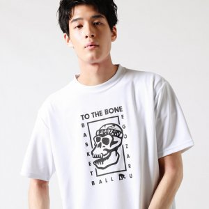 EGOZARU(エゴザル) Comic Bone Tee(コミックボーンTシャツ) 白/黒