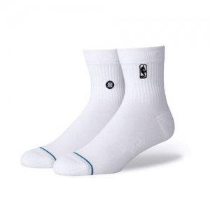 STANCE(スタンス) NBA Logoman ST QTR Socks(NBAロゴマンクSTウォーターソックス/靴下) 白