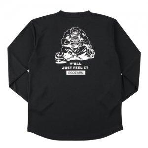 EGOZARU(エゴザル) Comic Backprint Long Tee(コミックバックプリントロングTシャツ/ロンT) 黒
