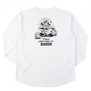 EGOZARU(エゴザル) Comic Backprint Long Tee(コミックバックプリントロングTシャツ/ロンT) 白