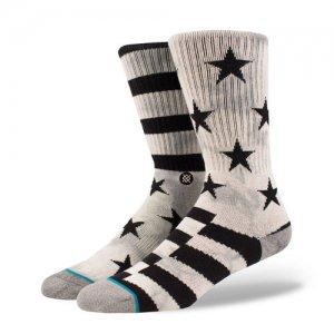 STANCE(スタンス) Sidereal 2 Crew Socks(サイドリール2クルーソックス/靴下) グレー/黒