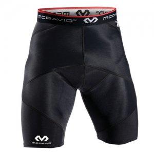 McDavid(マクダビッド) Cross Compression Shorts(クロスコンプレッションショーツ) 黒/赤