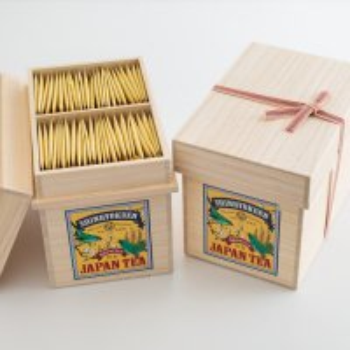 桐箱入り「MIYAZAKIひなたの茶箱」急須で淹れたみたいに美味しい煎茶ティーバッグ100個入り