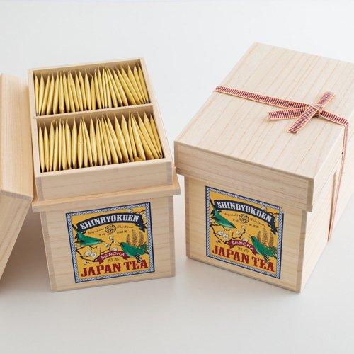 桐箱入り「空飛ぶお茶」煎茶ティーバッグ個包装(100p入り)