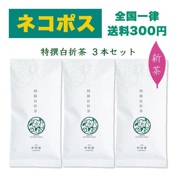 【ネコポス】特撰白折茶3本セット
