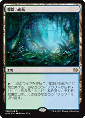 《MTG》霧深い雨林【FOIL】