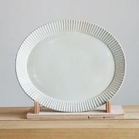 鎬 楕円皿 (白)