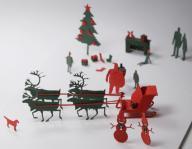 1/100建築模型用添景セット「クリスマス編」