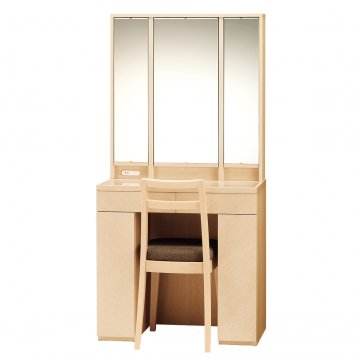 アルエット女優ミラー(ナチュラル)半三面鏡LEDドレッサー椅子付き