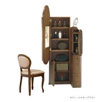 オパール(3色)姿見クラシックドレッサー椅子・アームランプ付き