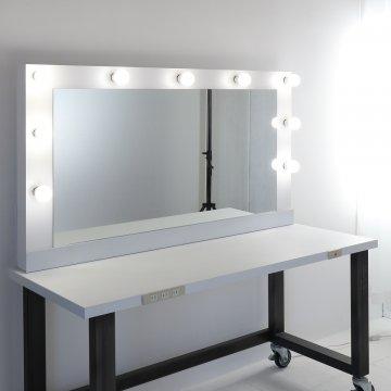 ヘアメイクアップアーティスト プロ仕様女優ミラー(ホワイト or 特注色)一面鏡ハリウッドミラー LEDドレッサー