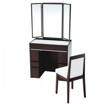シュバリエ75】半三面ドレッサー椅子付き選べるガラス