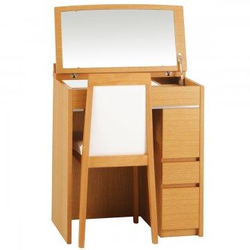 シュバリエデスク(4色)デスクドレッサー椅子付き 天板ガラス3種類