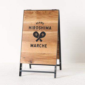 ミランダ女優ミラー(ブラウン)半三面鏡LEDドレッサー椅子付き