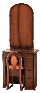 キュアベル女優ミラー(アンティーク)半三面鏡LEDドレッサー椅子付き