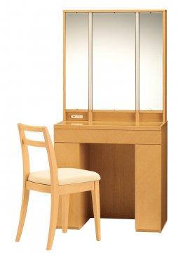 アルエット女優ミラー(ライトブラウン)半三面鏡LEDドレッサー椅子付き