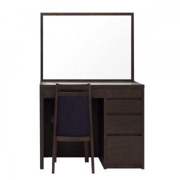 アダージョ(ウェンジ)一面鏡ワイドミラーホテルドレッサー椅子付き