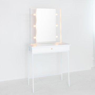 美容室サロン用セット面 ドレッサー女優ミラー(3色)スタイリングチェアやセット椅子美容椅子に合わせた高さハリウッドミラー