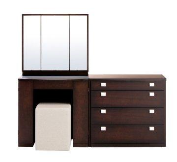 ワルツ + チェスト(3色)収納半三面鏡ホテルドレッサー椅子付き【セット割】
