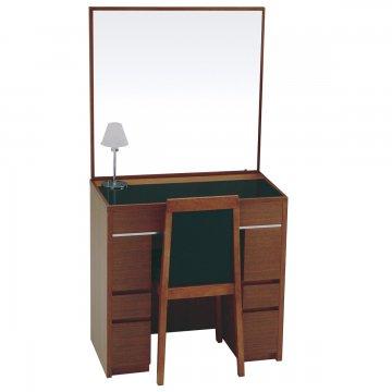 シュバリエ(4色)一面鏡ホテルドレッサー椅子・スタンドライト付き 天板ガラス3種類