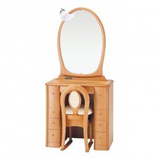 一面鏡ドレッサー【アベニュー】アンティーク 椅子付き
