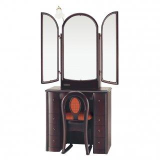 三面鏡ドレッサー【アベニュー】アンティーク 椅子付き