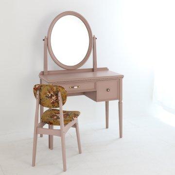 ロワール(ココ)一面鏡クラシックドレッサー椅子付き