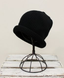 ROLL KNIT CAP/WOOL(BLACK)