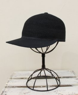 BRAID BB CAP/JUTE&TWILL(BLACK)
