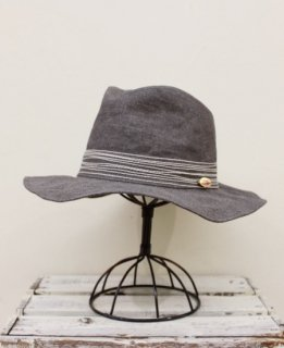 CROSS STITCH HAT(GRAY)