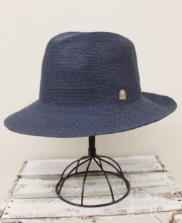 FRONT PINCH HAT/PAPER LONG BRIM(NAVY)