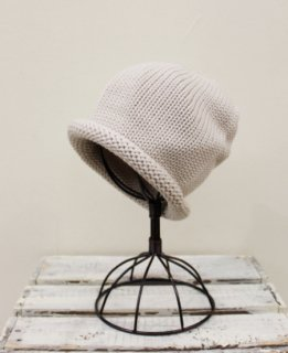ROLL KNIT CAP/WOOL(IVORY)