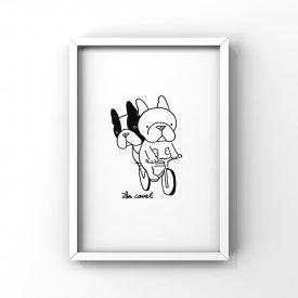 【L判額付き】フレブルイラスト「サイクリング」