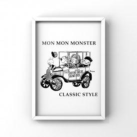 【L判額付き】MON MON MONSTER「Classic car」