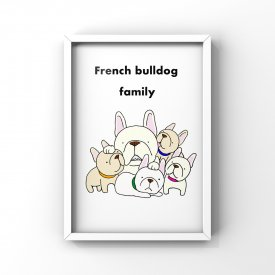 【L判額付き】フレブルイラスト「Family」