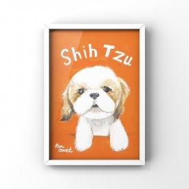 【L判額付き】絵の具アニマル「SHIH TZU」