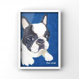 【L判額付き】絵の具アニマル「French bulldog」