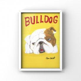 【L判額付き】絵の具アニマル「Bulldog」
