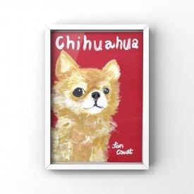【L判額付き】絵の具アニマル「Chihuahua」