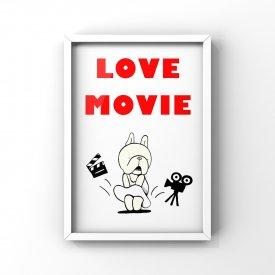 【L判額付き】フレブルイラスト「Love Movie」