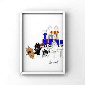 【L判額付き】フレブルイラスト「犬猿」