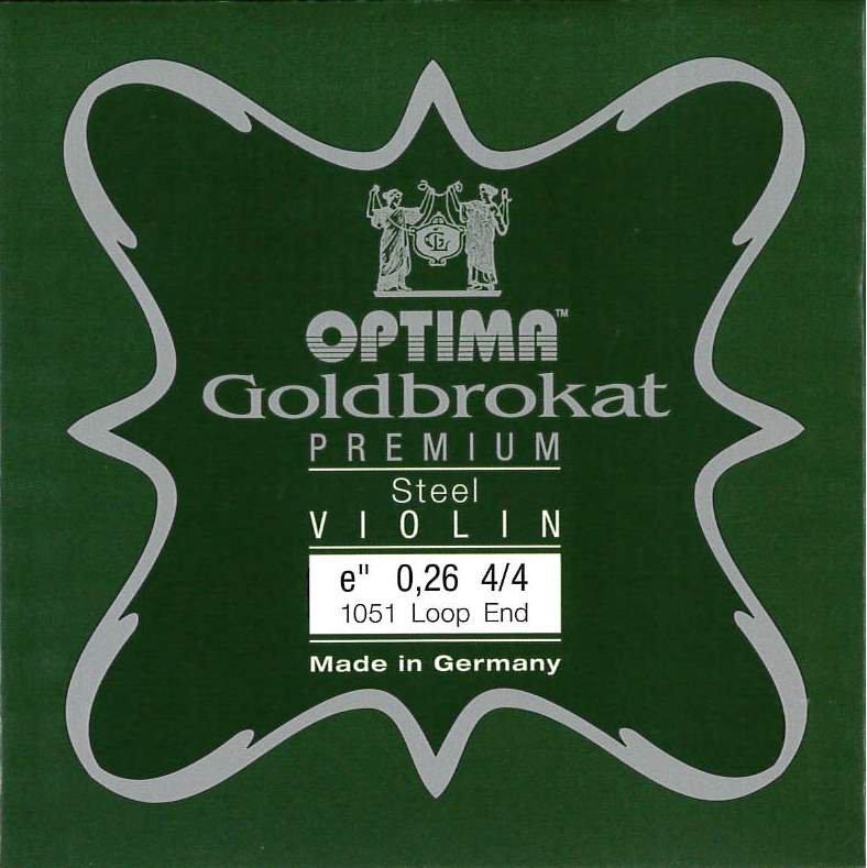 Violin 【Goldbrokat Premium】 E線 (0.26) スチール