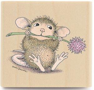 【輸入スタンプ】House-Mouseお花大好きねずみちゃん(ハウスマウスの輸入スタンプ)【レターパック350円〜】