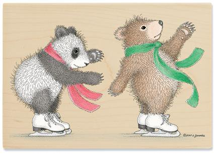 【輸入スタンプ】Gruffies*おっとっと、スケート中(ハウスマウス輸入スタンプ)*くま*パンダ